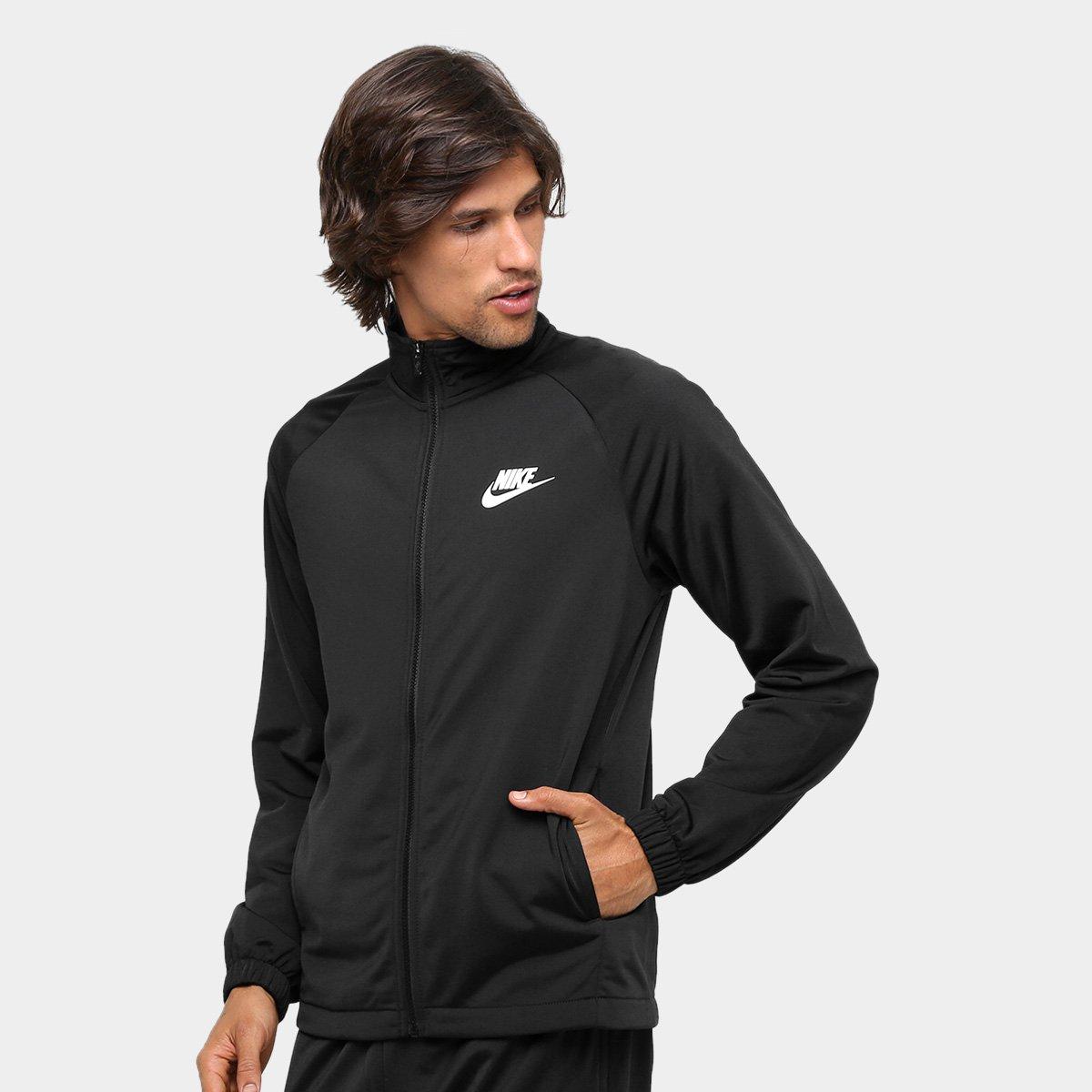 Agasalho Nike Trk Suit Pk Basic Masculino - Preto e Branco - Compre ... d4607f923dd72