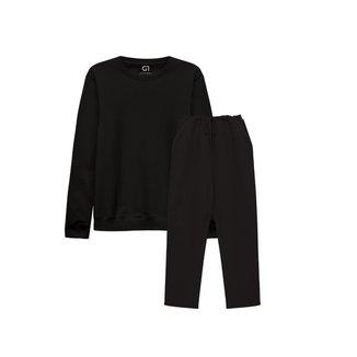 Agasalho Plus Size Basicamente  Blusa Moletom Calça Moletom Feminina