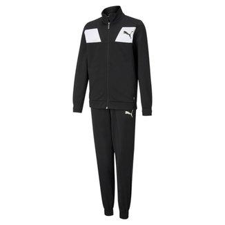 Agasalho Puma Poly Suit Classic Juvenil - Preto