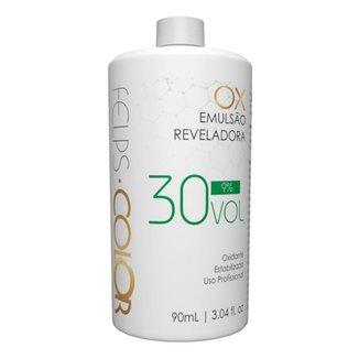 Água Oxigenada Felps Color OX 9% Emulsão Reveladora 30 volumes 90ml