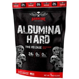 Albumina Hard 1kg Morango - Hardcore Sports Nutrition