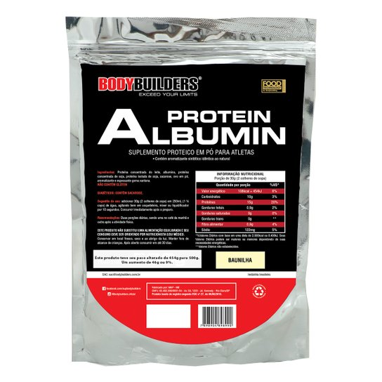 Albumina Protein 500g Refil - Bodybuilders -