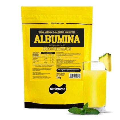 Albumina Refil - 1000g Abacaxi Com Hortelã - Naturovos
