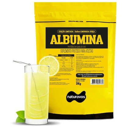 Albumina Refil - 1000g Limonada Suíça - Naturovos