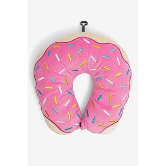 Almofada de Pescoço Estampada Donut Rosa