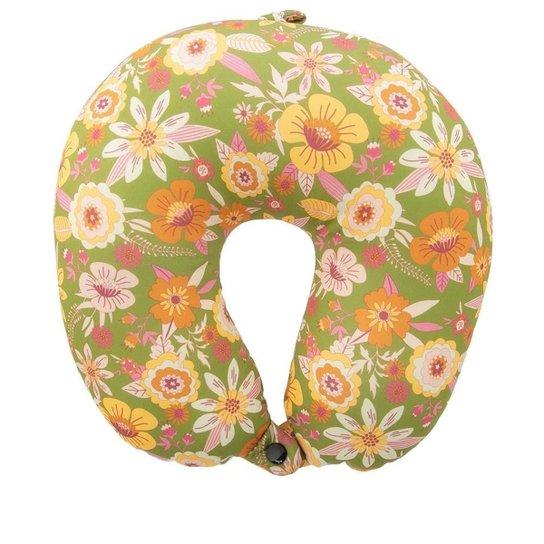 Almofada de Pescoço STZ Floral Verde - Colorido