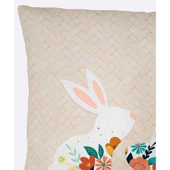 Almofada Estampada Coelho Floral Belchior - 10046999214 - Bege