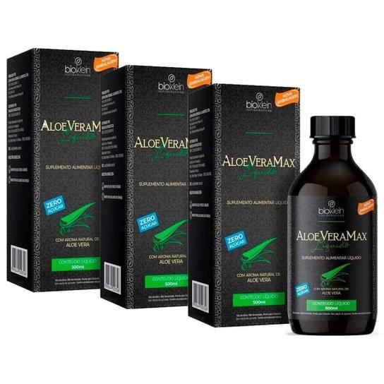 Aloe Vera Max Babosa Líquida - 3 unidades de 500ml - Bioklein -