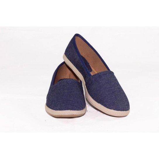 Alpargata Feminina Conforto Gomes Shoes Jeans - Azul