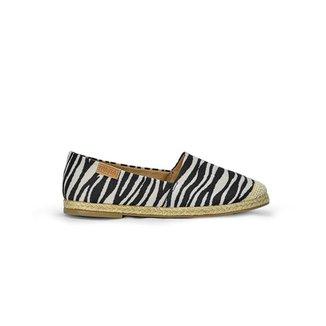 Alpargata Sua Cia Print Tecido Detalhe Zebra Feminina