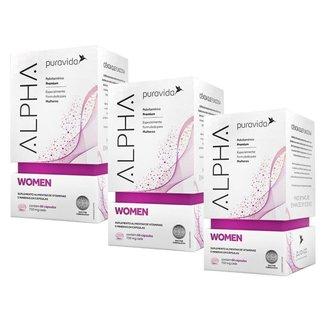 Alpha Women - 3 unidades de 60 Cápsulas - Puravida