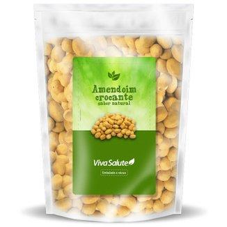 Amendoim Crocante Sabor Natural Viva Salute Embalado a Vácuo - 500 g