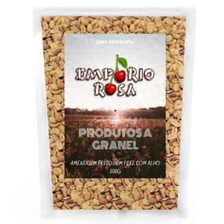 Amendoim Frito Sem Pele Com Alho Empório Rosa Granel 200G