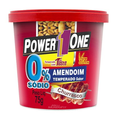 Amendoim Zero Sódio 75G – Power One – Churrasco
