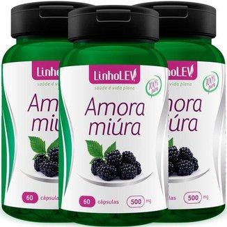Amora Miúra 100% Pura 3 Frascos 180 cápsulas