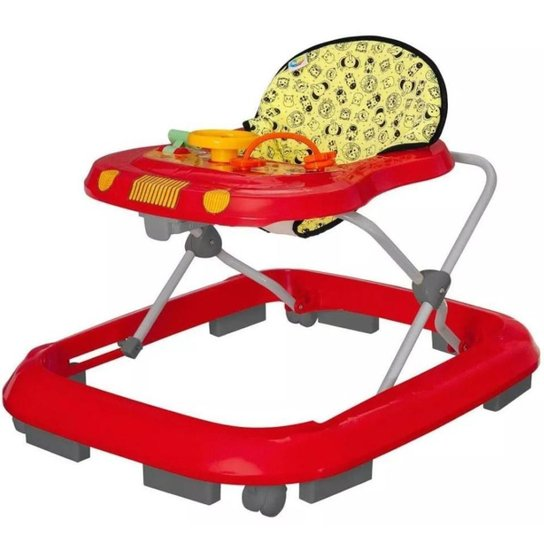 Andador Infantil Tutti Baby Safari Musical 0200334 - Vermelho - Vermelho