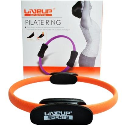 Anel de Pilates LiveUp - Unissex - Laranja+Preto