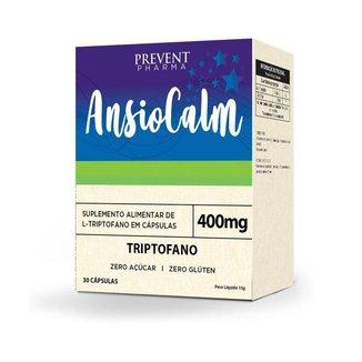 Ansiocalm 400mg 30 Cápsulas L-Triptofano Prevent Pharma