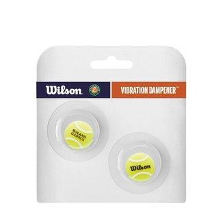 Antivibrador Wilson Roland Garros Tennis Ball com 02 Unidades Amarelo