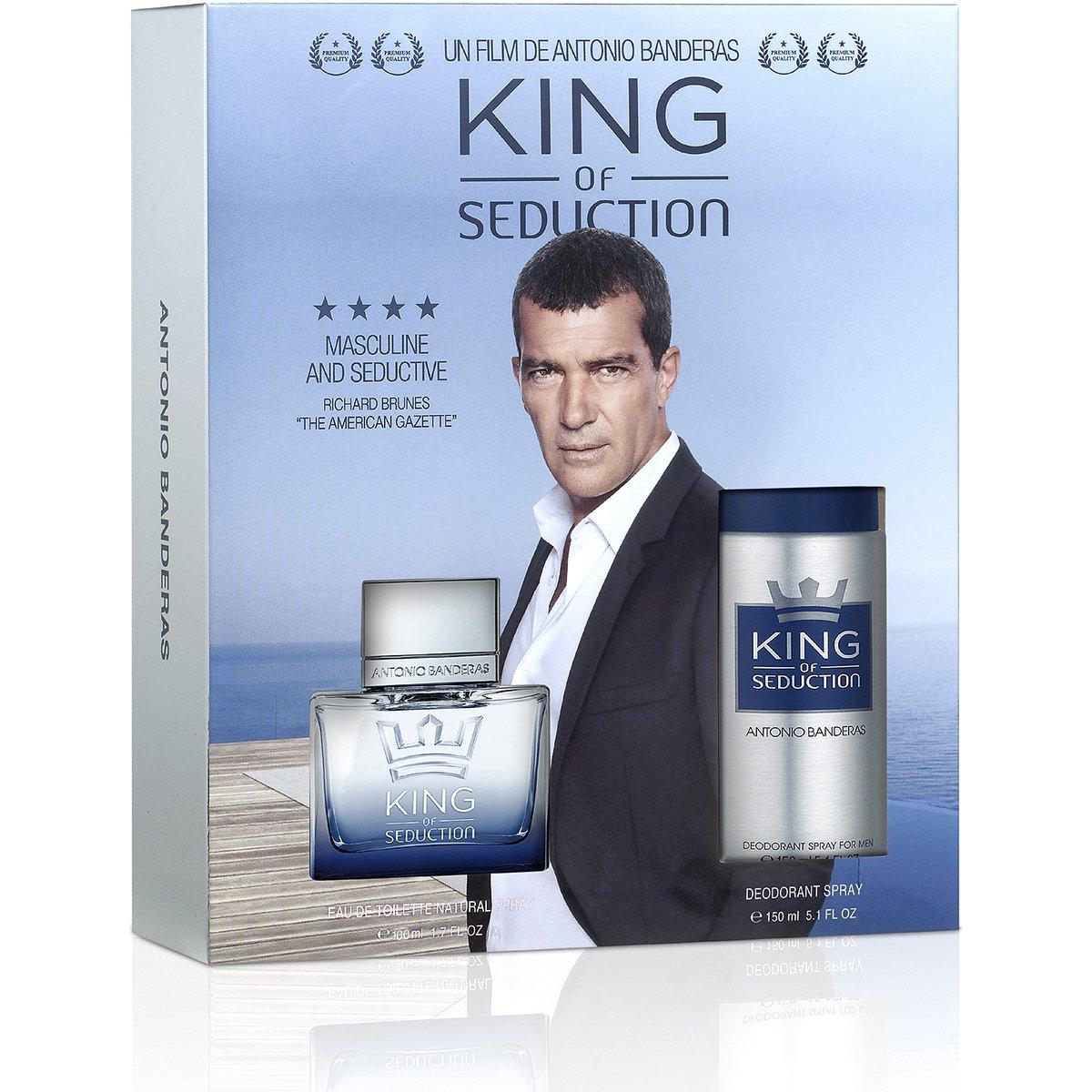 a5a98d934c Antonio Banderas Kit Perfume Masculino King Of Seduction EDT 100ml +  Desodorante 150ml - Compre Agora