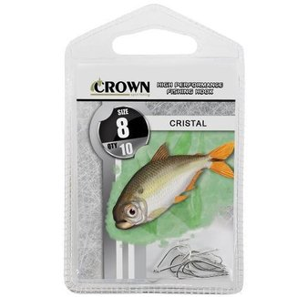 Anzol Crown Cristal Niquel N 08 Com 10 Uni