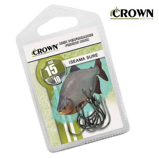 Anzol Crown Iseama  Black 16 c/ 10uni - Preto
