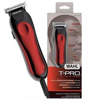 Aparador de cabelo Wahl Home T-Pro vermelho e preto 100V/240V