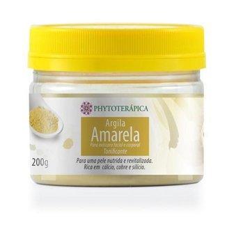 Argila Amarela Tonificante 200g Phytoterápica