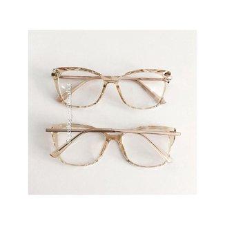 Armação de óculos de grau  - Preciosa - Dourado T