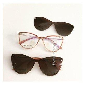 Armação de óculos de grau - Sarah 995 - Rose tran