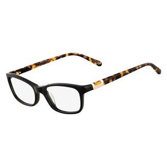 Armação de Óculos Diane Von Furstenberg Animal Print Feminino