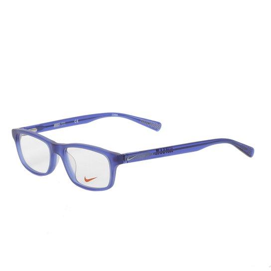 Armação De Óculos Juvenil Nike 5014 430 - Azul