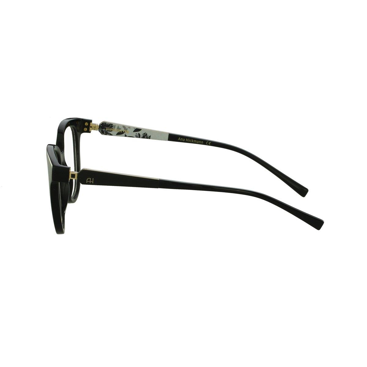 Armação Óculos Ana Hickmann Casual - Preto - Compre Agora   Netshoes 460da7218b