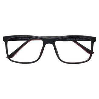 Armação Óculos De Grau Quadrado Moderno Vermelho Isabela Dias 2062