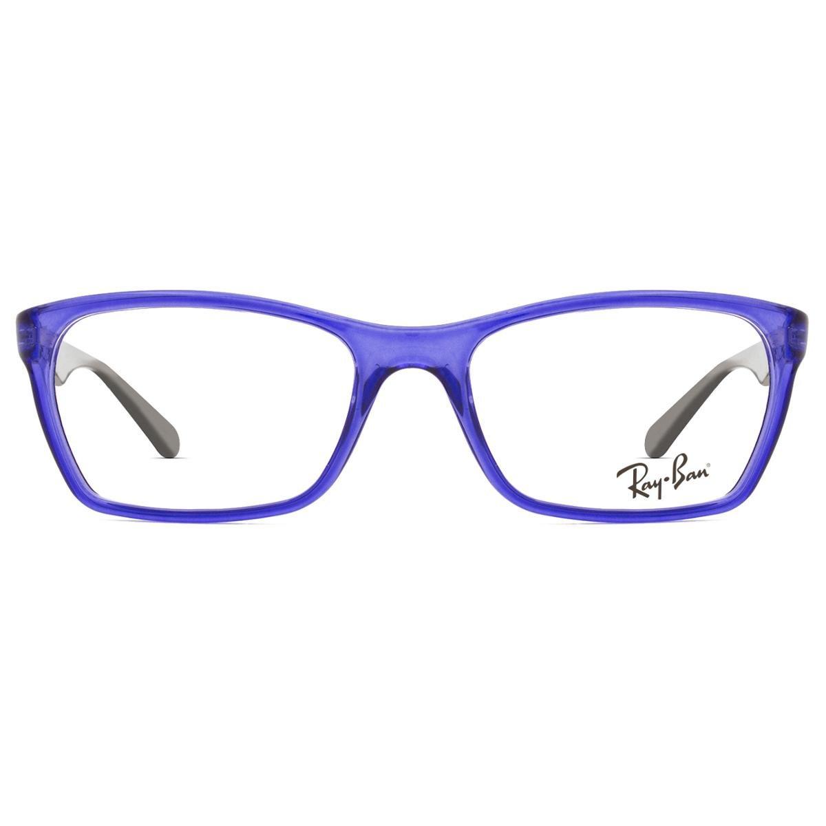 e2d71f2110310 Armação Óculos de Grau Ray Ban RX7033L 5444-52 - Azul - Compre Agora ...
