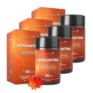 Astaxantina 3 unidades de 60 Cápsulas Puravida