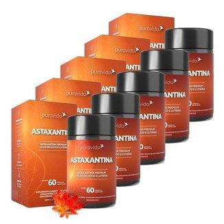 Astaxantina 5 unidades de 60 Cápsulas Puravida
