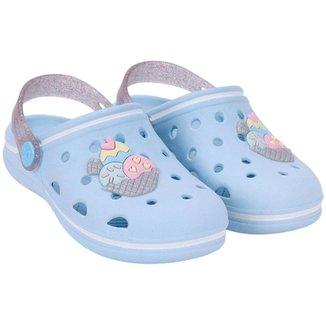 Baby Colors Pop Baby Fem - Azul Ceu/prata Glitter - 124.037-1531-25/26