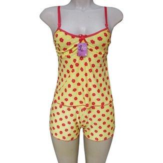 Baby Doll Conjunto Pijama Feminino Adulto
