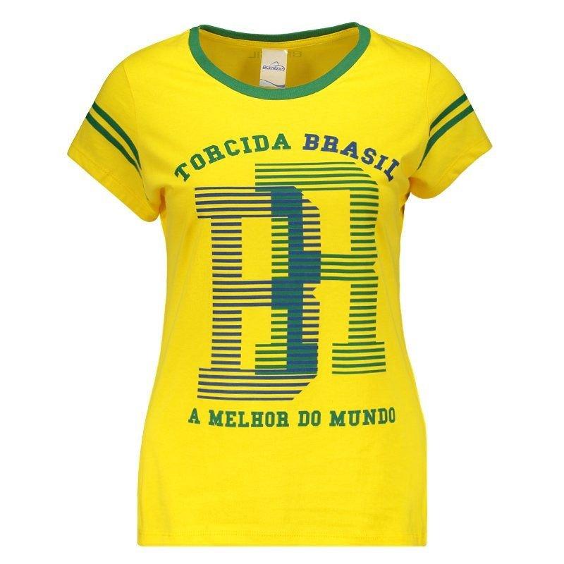 São Brasil Feminina Baby Look Brasil São Baby Look Francisco Amarelo XTYTqFw