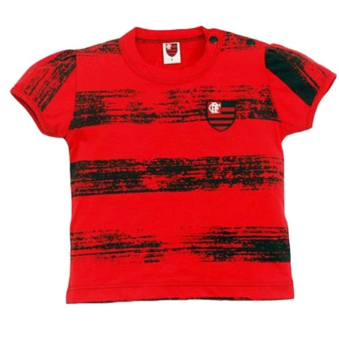 2 Menina List Craquelada Baby Reve Dor Flamengo Meia Vermelho Look Malha Anos apgxznxq7w
