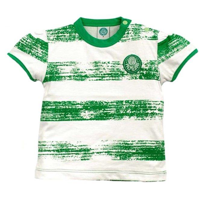 e Dor Reve Malha List Look Anos Baby Branco Craquelada Verde 2 Meia Palmeiras Menina I07n8q