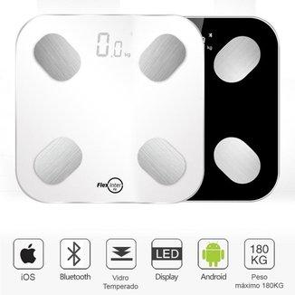 Balança Corporal Bioimpedância Digital Smart Com APP Android/IOS Branca -  FlexInter