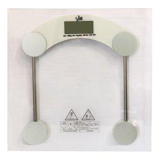 Balança Digital Para Banheiro e Academia Corporal 180 Kg Eletrônica LCD Em Vidro Temperado