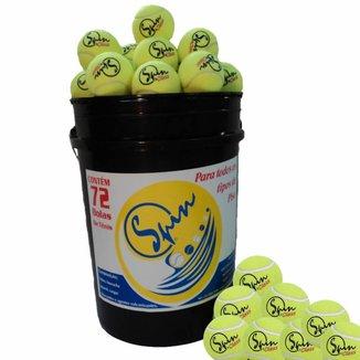 Balde de Bolas de Tênis Spin com 72 Bolas SPIN