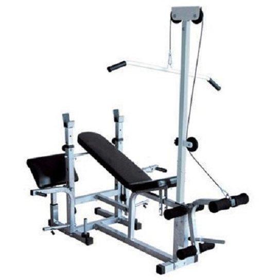 Banco de Supino 367  Estação de musculação aparelho ginastica - WCT Fitness - Preto