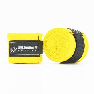 Bandagem Boxe Muay Thai Simples 3m Best Defense - Vermelho