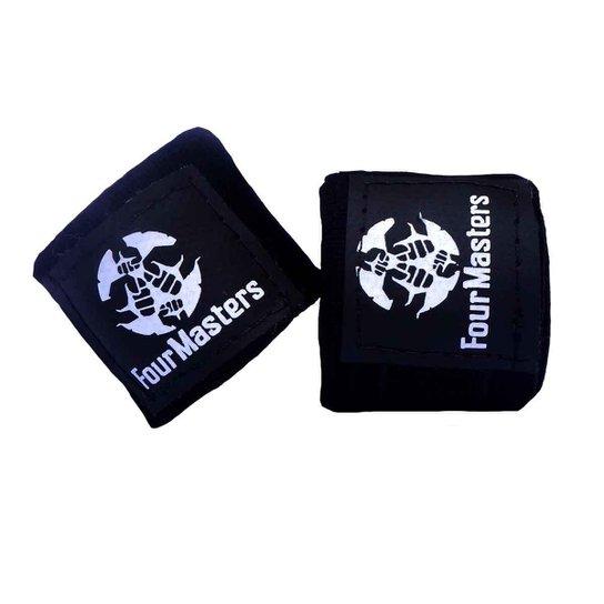Bandagem Elastica Artes Marciais Boxe Muay-thai Four Masters - Preto