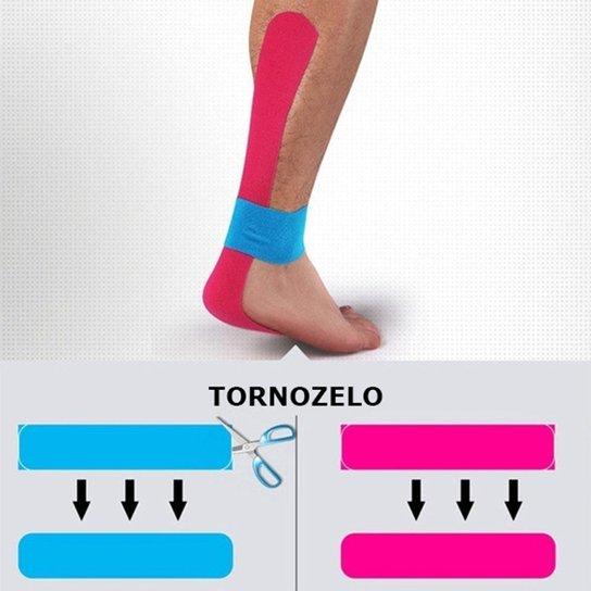 Bandagem Elástica Gold Sports Adesiva Neuromuscular - Azul