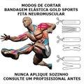 Bandagem Elástica Gold Sports Adesiva Neuromuscular
